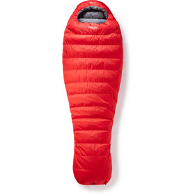 Rab Alpine Pro 600 Saco de Dormir Hombre, fiery red/steel
